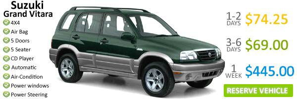 Toyota RAV4 3 Door - Dominica Car Rentals