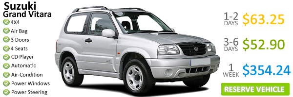 Suzuki Grand Vitara - Dominica Car Rentals